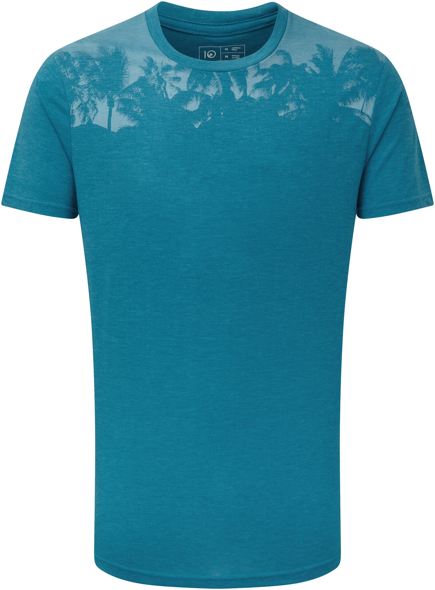 tentree Palm Classic T Shirt Men, blue lake blue heather